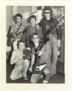Chris, front left ,in 80s Newcastle band Bowser