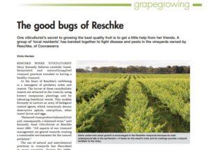 Australian & New Zealand Grapegrower & Winemaker-Reschke Sustainable Practices